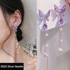 butterfly, Tassels, Jewelry, pearls