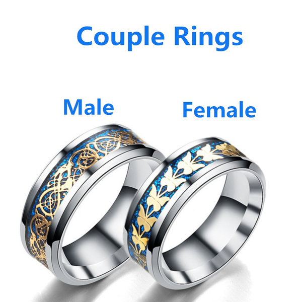 Couple Rings, Blues, butterflyring, Fashion