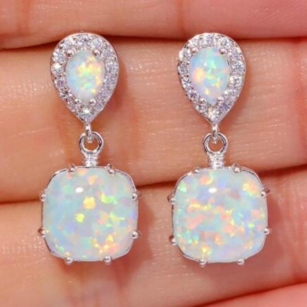 Sterling, opalearring, Jewelry, Stud Earring