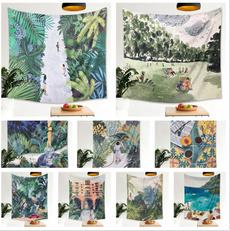 tropicalleave, Flowers, Home Decor, wallcloth
