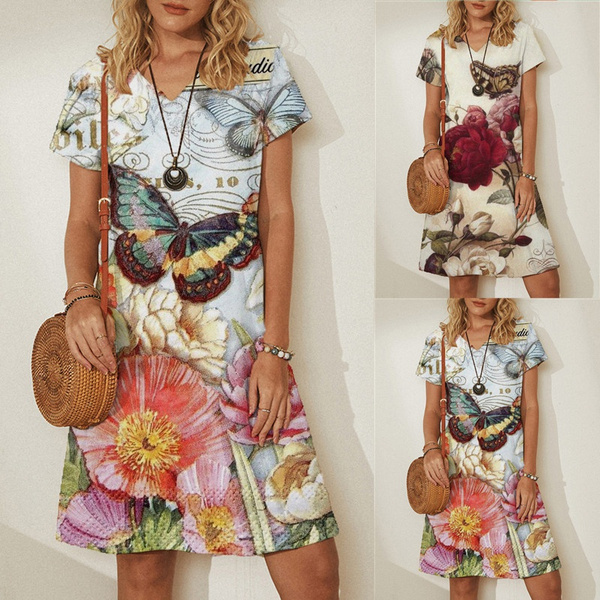 butterfly, Summer, Plus Size, Floral print