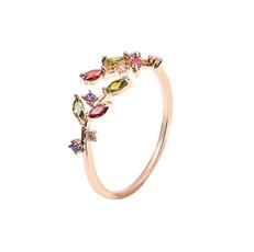 18 k, colorfuldiamondring, horseeyecrystaldiamondring, silverdiamondring