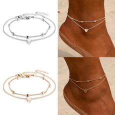 Heart, Woman, ankletsforwomen, Anklets