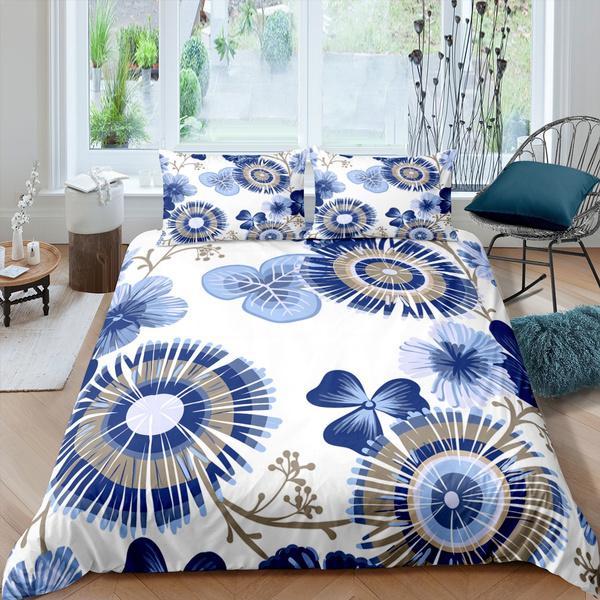 beddingkingsize, leavebeddingset, Flowers, Home Decor