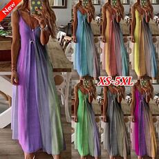 gradientdresse, Summer, woman fashion, Plus Size