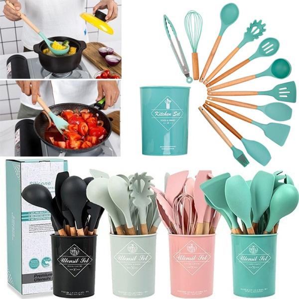 siliconekitchenwaresset, Kitchen & Dining, siliconecooking, utensilscookingset