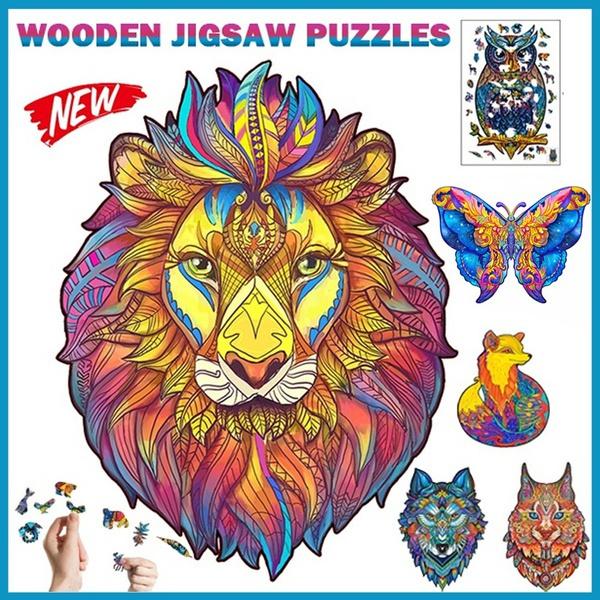 lionpuzzle, alien, planejigsawpuzzle, Wooden