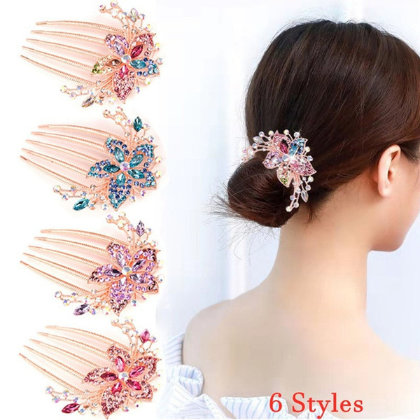 hairpincomb, Flowers, hairornament, Barrettes