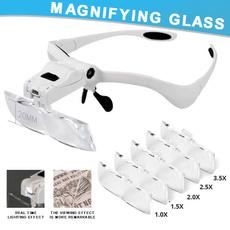 headbandmagnifierloupe, led, illuminatedmagnifyinglen, jewelersheadbandmagnifier