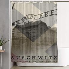 auschwitzthenazisandthefinalsolutionshowercurtain, funnyshowercurtain, Bathroom Accessories, bathroomcurtain