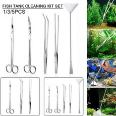 aquariumaccessorie, Stainless Steel Tools, Plants, Tank