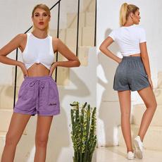Women, gymshortpant, elastic waist, joggerspant