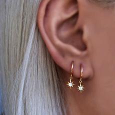 Star, Jewelry, gold, Earring