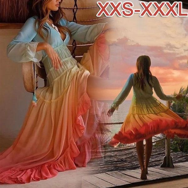 Summer, long skirt, Fashion, Ladies Fashion