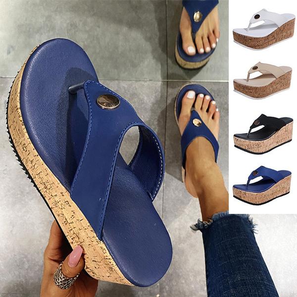 wedge, Flip Flops, Plus Size, Women Sandals