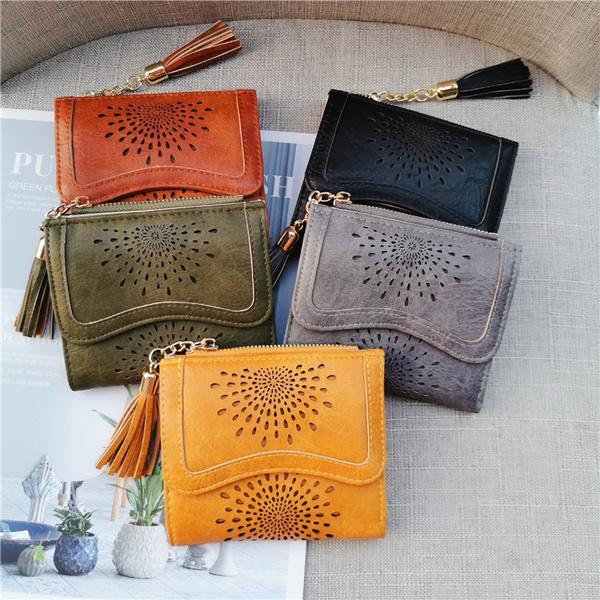 leather wallet, shortwallet, slim wallet, coin purse