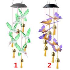 solarwindchime, Decor, gardenhanging, led