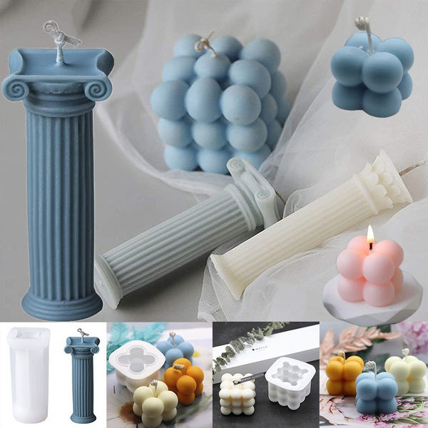 romancolumn, siliconemould, Ornament, candlemaking