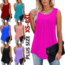 Summer, Vest, womens top, Pleated