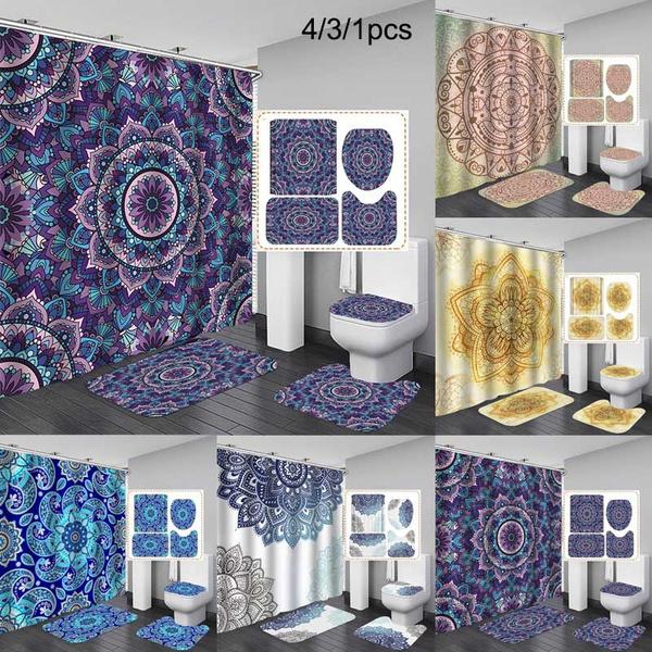 bohemia, Bathroom Accessories, Waterproof, showercurtainset