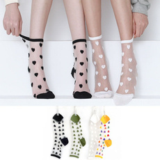 Hosiery & Socks, Heart, Nylon, silk