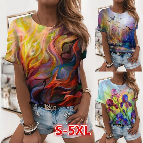 Summer, Plus Size, summer t-shirts, short sleeves