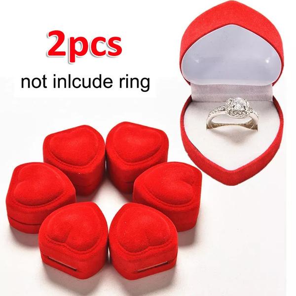 Box, Heart, Engagement, velvet