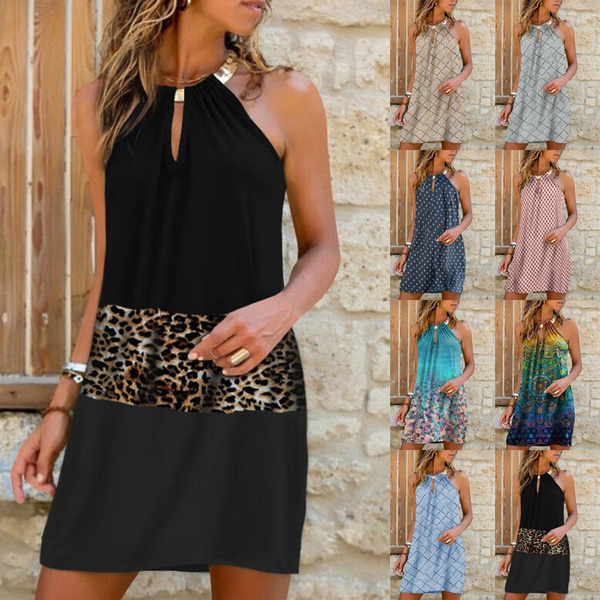 Summer, Plus Size, halter dress, short dress