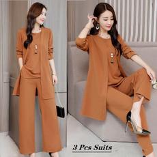 blouse, sleeveless, widelegpantswomen, Fashion