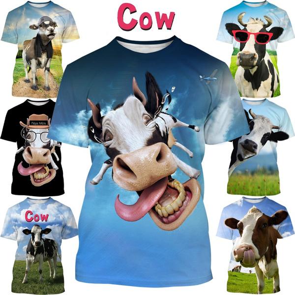 Funny, Fashion, Necks, cow