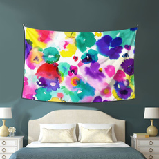 abstractcolorfulfloralwatercolortapestry, art, Colorful, tapestry6051inch