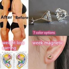 weightlossearring, DIAMOND, healthampbeaut, earrings studs