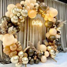 brown, Decor, balloongarland, greenballoonset