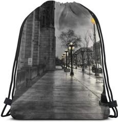 student backpacks, Gray, Fashion, Drawstring Bags