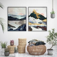art print, Mountain, Decor, Wall Art