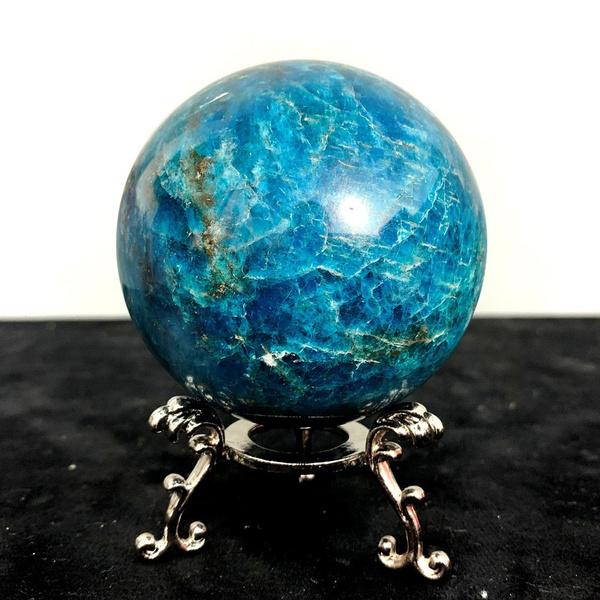 Blues, blueapatiteball, Handmade, crystalball