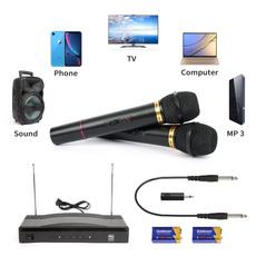 handheldmicrophone, Microphone, microphonesystem, dualchannelwirelesshandheldmicrophone