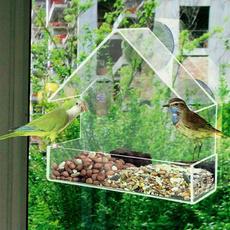Outdoor, parrotfeeder, adsorptionhousetypebirdsfeeder, Pets