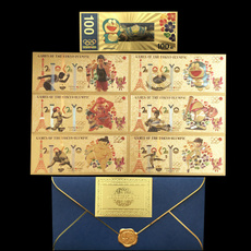 goldplated, olympic, banknote, gold