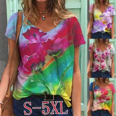 blouse, sleeve v-neck, Plus Size, Sleeve