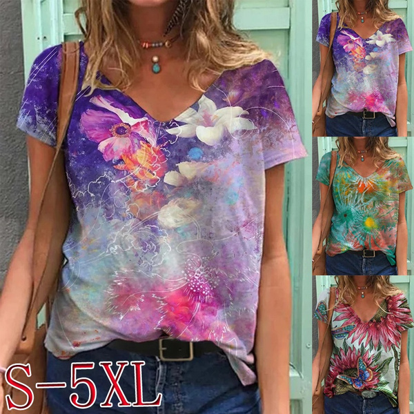 Summer, Plus Size, Graphic Shirt, Spring
