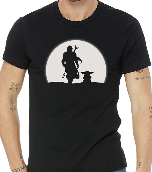 Shirt, Moon, yoda, T Shirts