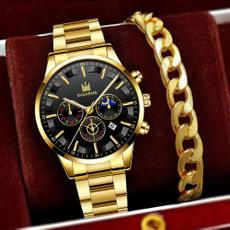 Moda, Waterproof Watch, business watch, gold