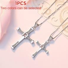Necklace, moviespeedandpassioninthesameshape, fashioncouplenecklace, Cross Pendant