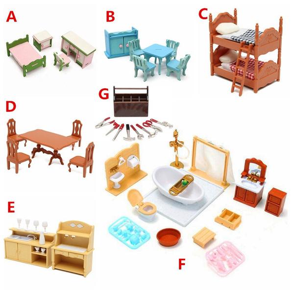 dollhousediningtable, dollhousefurniture, dollhousebathroom, Hobbies