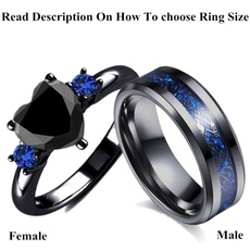 Couple Rings, Blues, lover gifts, Bridal wedding
