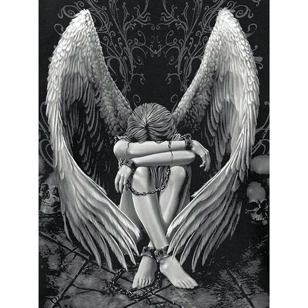 DIAMOND, mosaicembroidery, Home Decor, Angel