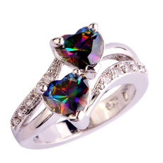 Heart, Beautiful Ring, rainbow, lover gifts