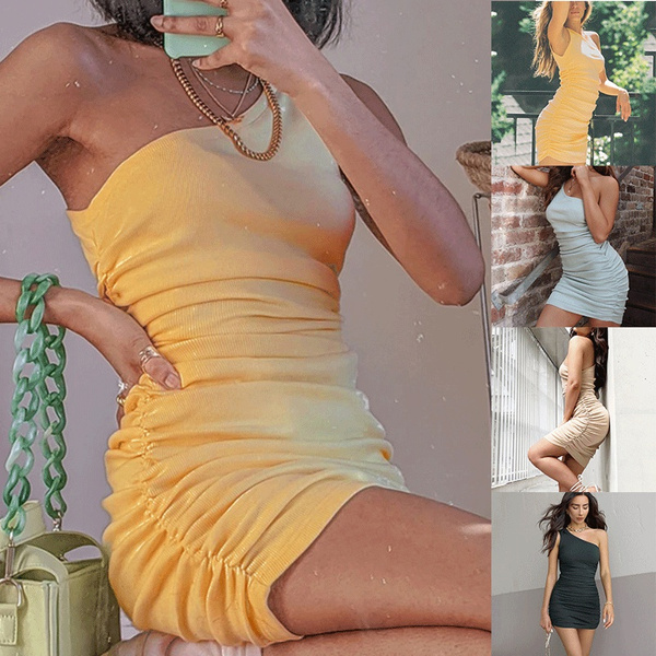 Fashion, one shoulder dress, one-shoulder, Evening Dress