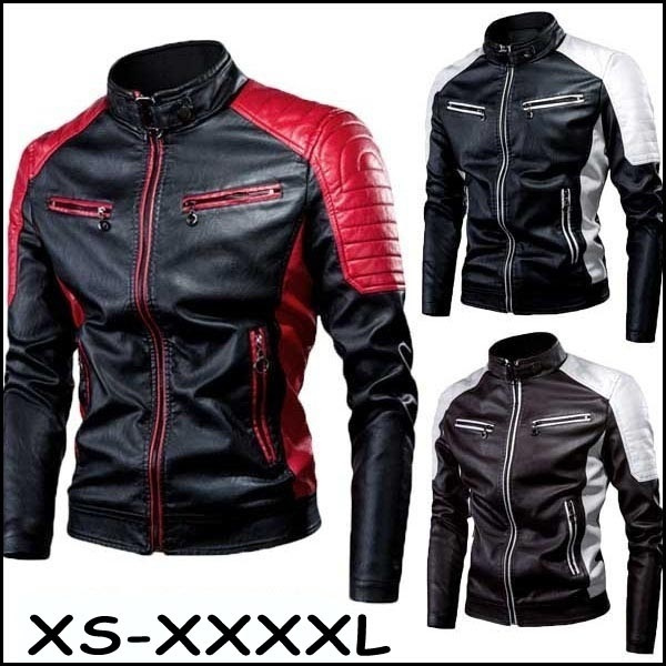 Fleece, warmjacket, PU, leather